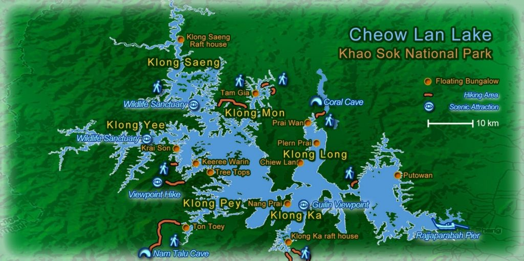 places to see in Cheow Lan Lake